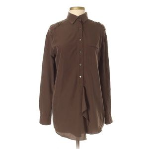 Vince. Brown Long Sleeve Blouse